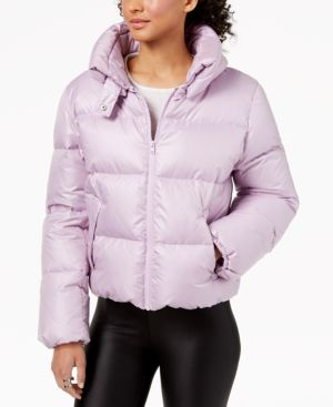 KENDALL + KYLIE Cropped Puffer Coat in Lilac