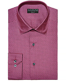 AlfaTech by Alfani Men's Reg-Fit Performance Stretch Basket Print Dress Shirt, Created for Macy's