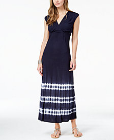 I.N.C. Tie-Dye Surplice Maxi Dress, Created for Macy's