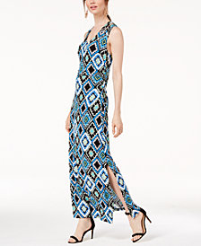 I.N.C. Printed Crisscross Maxi Dress, Created for Macy's