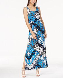 I.N.C. Printed Maxi Dress, Created for Macy's