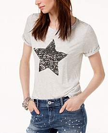 INC Embellished Star T-Shirt, Created for Macy's