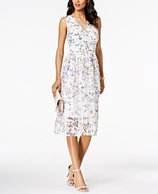 Ivanka Trump Floral Printed Midi Dress