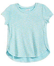 Love, Fire Big Girls Foil Dot Side Split Top