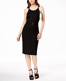 MICHAEL Michael Kors Ribbed Dress, Regular and Petite Sizes