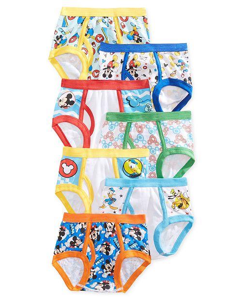Disney Mickey Mouse 7-Pk. Cotton Briefs, Toddler Boys