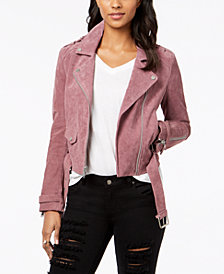 Marc New York Suede Moto Jacket