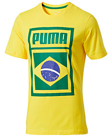 Puma Men's Forever Football Brazil Soccer T-Shirt
