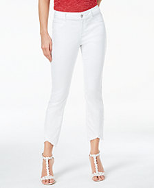 I.N.C. Cropped Tulip-Hem Jeans, Created for Macy's