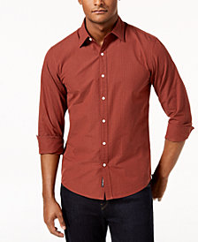 Michael Kors Men's Slim-Fit Seersucker Shirt