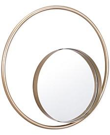 Solar Champagne-Framed Mirror