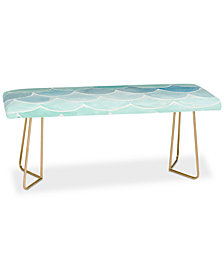 Deny Designs Wonder Forest Mermaid Scales Bench