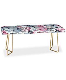 Deny Designs Emanuela Carratoni Vintage Floral Theme Bench