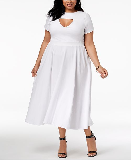 Rebdolls Plus Size Skater Dress from The Workshop at Macy\'s ...