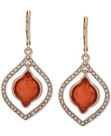 lonna & lilly Gold-Tone Pavé & Stone Orbital Drop Earrings
