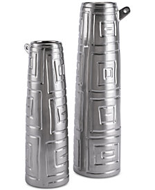 Zuo Azteca Matte Silver-Tone Jar Collection