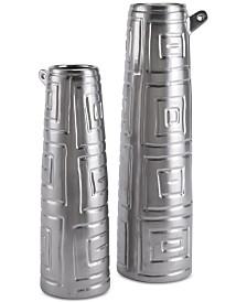 Zuo Azteca Matte Silver-Tone Jar Collection