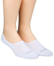 Calvin Klein Men's No-Show Socks, 2 Pack