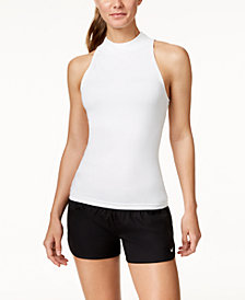 Nike Solid Sleeveless Rash Guard & Swim Shorts