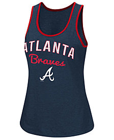 G-III Sports Women's Atlanta Braves Power Punch Glitter Tank