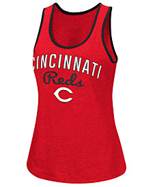 G-III Sports Women's Cincinnati Reds Power Punch Glitter Tank