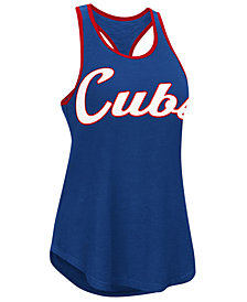 G-III Sports Women's Chicago Cubs Oversize Logo Tank