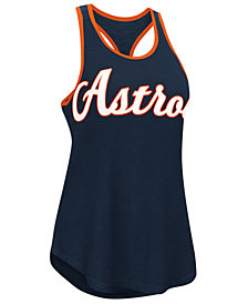 G-III Sports Women's Houston Astros Oversize Logo Tank