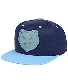 Mitchell & Ness Memphis Grizzlies Rubber Weld Snapback Cap