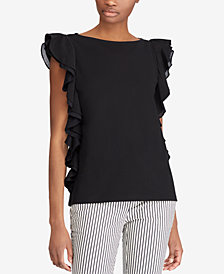 Lauren Ralph Lauren Ruffled Cotton Top