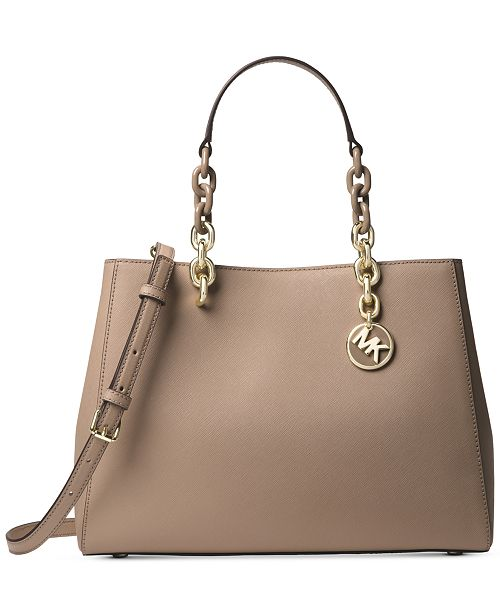 412a691eee73e5 Michael Kors Cynthia Saffiano Leather Satchel & Reviews - Handbags ...