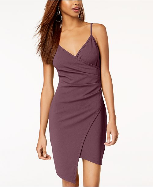 Almost Famous Juniors  Sleeveless Faux-Wrap Dress   Reviews ... 4cc39d125