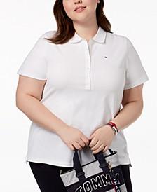 Plus Size Piqué Polo Shirt, Created for Macy's
