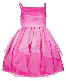 Bonnie Jean Little Girls Ombré Cascading Ruffle Dress