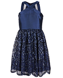 Crystal Doll Big Girls Crisscross Strap Sequin Dress