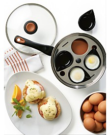 "Farberware Glide Copper Ceramic Non-Stick 8"" Egg Poacher & Lid"