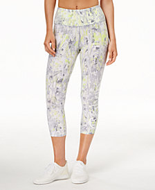 Calvin Klein Performance Synthesis Printed High-Rise Cropped Leggings