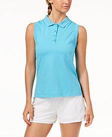 Calvin Klein Performance High-Low Hem Sleeveless Polo