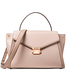 MICHAEL Michael Kors Whitney Polished Leather Satchel