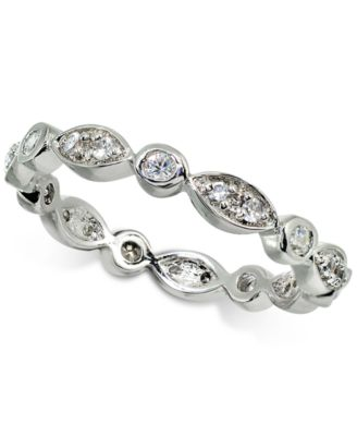 Cubic Zirconia Stackable Scallop Band in Sterling Silver, Created for Macy's