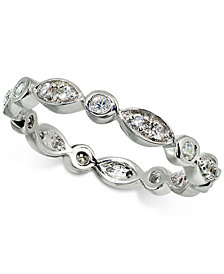 Giani Bernini Cubic Zirconia Stackable Scallop Band in Sterling Silver, Created for Macy's