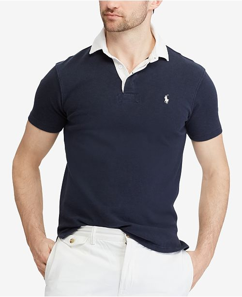 9599f84cf3b23 Polo Ralph Lauren Men s Custom Slim Fit Rugby Shirt - Polos - Men ...