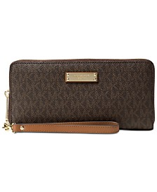 MICHAEL Michael Kors Signature Jet Set Item Travel Continental Wallet