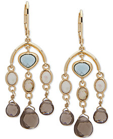 Anne Klein Gold-Tone Multi-Stone Chandelier Earrings