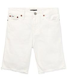 Big Boys Cotton Denim Cutoff Shorts