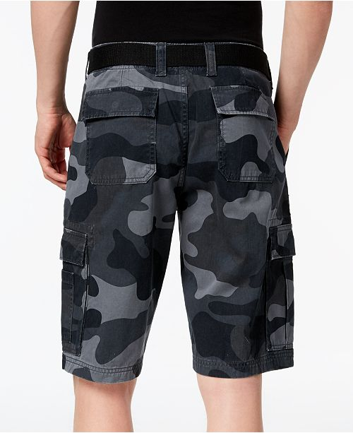 0f90e604f7 ... American Rag Men's Belted Relaxed Cargo Shorts, Created for Macy's ...
