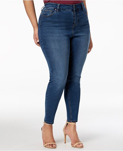 Celebrity Pink Trendy Plus Size High-Rise Skinny Ankle Jeans