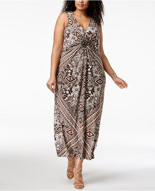 54c4637414b4d R   M Richards Plus Size Embellished Maxi Dress - Dresses - Women ...