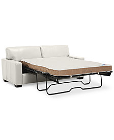 "Ennia 75"" Leather Full Sleeper, Created for Macy's"