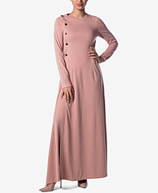 Verona Collection Lucianna Button-Side Maxi Dress