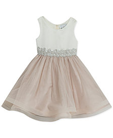Rare Editions Little Girls Embellished Waist Party Dress